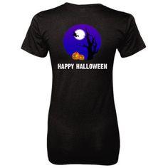Happy Halloween tshirt - Ladies' 100% Ringspun Cotton nano-T® Back Pri – Cool Jerseys