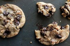 Brown Sugar-Toasted Almond Dark Chocolate Chip Cookies with Sea Salt | Tasty Kitchen: A Happy Recipe Community!