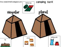 Camping Noun Sort-A noun sorting game with a camping theme perfect for summer. From Speech Time Fun. Pinned by SOS Inc. Resources.  Follow all our boards at http://pinterest.com/sostherapy  for therapy   resources.