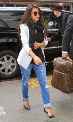 Look Kim Kardashian: Blazer Branco