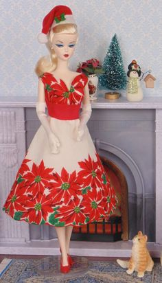 Poinsettias All 'Round for Silkstone Barbie by HankieChic on Etsy now
