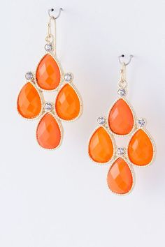 DivaByDzine - Coral Jewel Earrings, $8.00 (http://www.divabydzine.com/coral-jewel-earrings/)