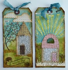 Tim Holtz Texture Fades.  Tags by 2Peas user Anna-Karin. I love these!