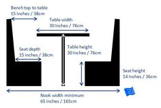 kitchen dimensions - nooks and booths