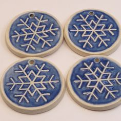 Lucky Crane Pottery is the home-based business of Doris Kuehn of Oliver, BC, Canada. Snowflake Ornaments, Snowflakes, Crane, Coasters, Pottery, Ceramica, Drink Coasters, Pottery Pots, Coaster Set