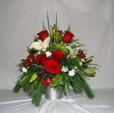Image result for white contemporary christmas flower arrangements