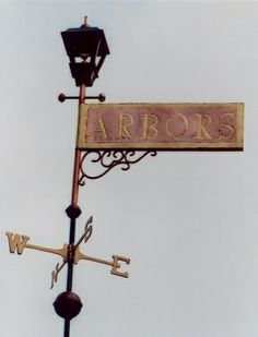Banner Weathervane Sign, Arbors by West Coast Weathervanes.