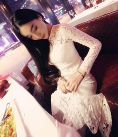 Lace Dress DS4004 White - Tamochi