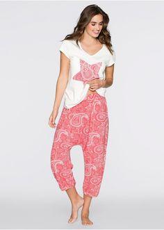 Piżama ze spodniami alladynkami Shirt z • 79.99 zł • bonprix