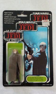 Vintage Star Wars RoTJ Palitoy Tri Logo Luke Skywalker Jedi Knight MOC