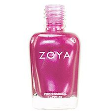Zoya Nail Polish in Star - Dark pink with orchid undertones and strong silvery-pink frosty shimmer