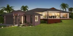 External Architectural Rendering - Hedley Homes - Cairns External Render, Cairns, Floor Plans, Exterior, House Design, Mansions, Architecture, House Styles, Outdoor Decor