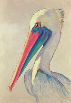 Pelican Paintings at the Beach | McKinley - Art, Gallery, Paintings, Abstract Art, Abstract Paintings ...