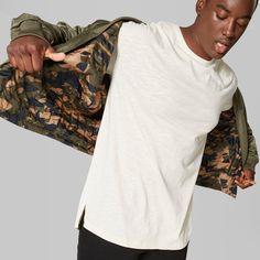 Men's Big & Tall Short Sleeve Drop Shoulder Slub T-Shirt - Original Use Beachcomber 5XBT