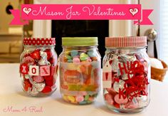 Mason Jar Valentines - adorable and SO simple!
