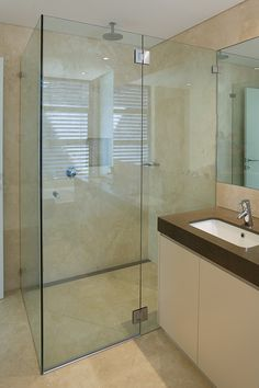 Custom Cut Frameless Shower Screens Sydney Palmers Glass - Our Portfolio of Craftsmanship Is Truly in a Class of Its Very Own Tv Placement, Frameless Shower, Laundry In Bathroom, Glass Shower, Cut Glass, Bathroom Designs, Bathroom Ideas, Master Suite, Shower Screens
