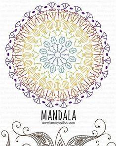 Resultado de imagen de crochet mandala diagram