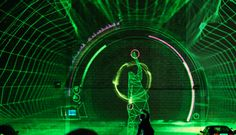 V Motion Project, combines collective talents of musicians, dancers, programmers, designers and animators to create an amazing visual instrument.