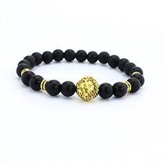 KOKY® Black Matte Stone Beaded Stretch Bracelet with Gold... https://www.amazon.com/dp/B01I4INN1W/ref=cm_sw_r_pi_dp_E3NGxbWVDA9WP