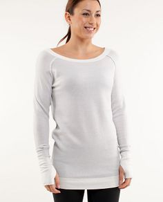 ed79d83c chai time sweater love. size 2. paid $88 Heathered silver spoon Lululemon  Sweater,