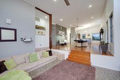 Image result for Contemporary Sunken Living Room