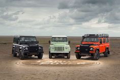 Celebrating the outgoing Land Rover Defender with 3 limited edition models...
