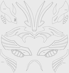 Thor helmet foam cut out, template, unfold, pattern