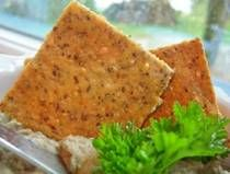 Eat these all the time - nicely low-carb, gluten-free and completely crack-like Parmesan Flax crackers. Not exactly low fat (all that almond flour!) but omg YUM.