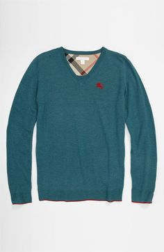 Burberry 'Mini Vance' Sweater (Big Boys) available at #Nordstrom #MyTweenScene