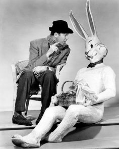 James Stewart and The Easter Bunny  circa 1950