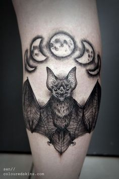 The Sign of Rebirth. Looking for a Halloween tattoo? Get this scary tattoo and scare them all! Piercing Tattoo, Tattoo P, Tattoo Mond, Calf Tattoo, Chest Tattoo, Piercings, Scary Tattoos, Badass Tattoos, Body Art Tattoos