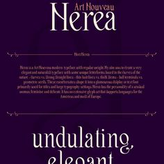 Nerea. Art Nouveau Free Font, #Art, #Display, #Free, #Graphic #Design, #Resource, #Typeface, #Typography
