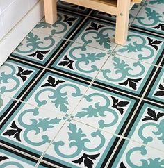 Vintage Floor for a Kitchen.