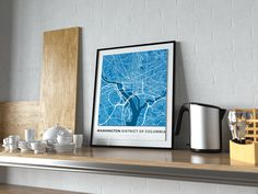 Now available in our store: Premium Map Poste... Check it out here! http://shop.mapprints.co/products/premium-map-poster-of-washington-d-c-simple-blue-contrast-unframed-washington-d-c-map-art?utm_campaign=social_autopilot&utm_source=pin&utm_medium=pin