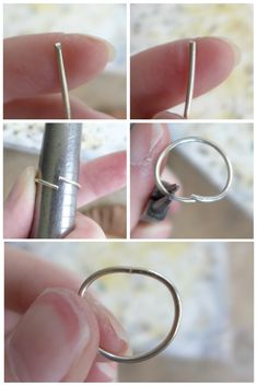 How To Make A Prong Setting Ring — Maker Monologues Diy Silver Rings, Silver Rings With Stones, Diy Rings, Wire Wrapped Jewelry, Wire Jewelry, Silver Jewelry, Gold Jewellery, Diamond Jewelry, Jewelry Rings