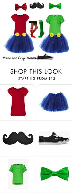 """""""Mario and Luigi costume"""" by npd531 ❤ liked on Polyvore featuring Warehouse, Vans and French Connection"""