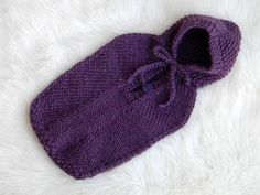 Knit Baby Sleep Sack. I wonder if Bev could teach me this?