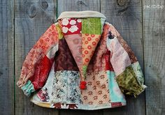 Girl's Winter Swing Coat Jacket with Pixie Hoodie in Patchwork Print - Sizes from to 6 Sewing For Kids, Baby Sewing, Fashion Moda, Diy Fashion, Sewing Clothes, Doll Clothes, Swing Coats, Baby Girl Fashion, Little Girl Dresses