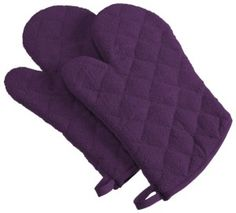 DII Cotton Machine Washable Heat Resistant Everyday Kitchen Basic Terry Oven Mitt 7 x Set of 2 Eggplant Kitchen Linens Sets, Purple Kitchen, Kitchen Oven, Kitchen Ware, Kitchen Stuff, Kitchen Gadgets, Kitchen Ideas, Cotton Quilts, Dish Towels