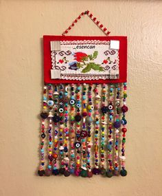 Nazarlık, nazar, nazar boncuğu, kanaviçe, ayna, amulet, cross stitch, design, felt, feltro, hand made