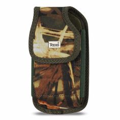 Reiko Vertical Rugged Pouch Leaves Pattern For Iphone 5 Plus Camouflage (5.27X2.71X0.7 Inches)