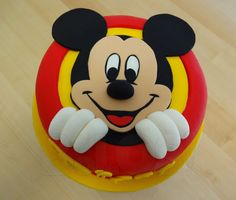 "I LOVE this Mickey Cake!!! Would make a great ""smash cake"" for a little one!"