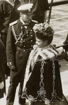 Nicholas II and His Mother, Dowager Empress Marie Feodorovna