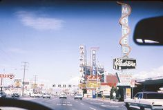 Las Vegas Strip 1968 www.all-chips.com has chips from all these places.  A Drive up the strip in '68 #2