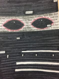 Using Blackout Poetry to Discover Thematic Subjects