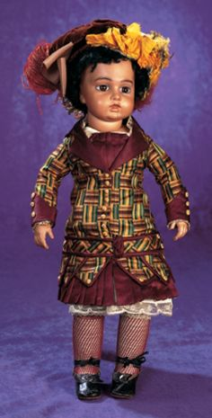 Purple Skies, Plum Delights : 29 Very Rare French Brown-Complexion Bisque Bebe by Leon Casimir Bru