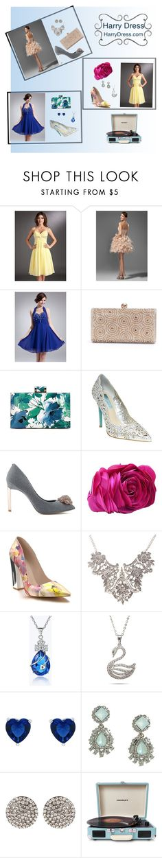 """Homecoming 2016"" by sandjpopescu ❤ liked on Polyvore featuring Betsey Johnson, Ted Baker, Shoes of Prey, LULUS, Amrita Singh, Crosley and harrydress"