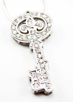 Kappa Kappa Gamma Key Pendant