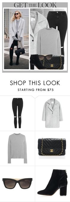 """""""Winter Look"""" by monmondefou ❤ liked on Polyvore featuring Topshop, MANGO, Iris & Ink, Chanel, Valentino, women's clothing, women's fashion, women, female and woman"""