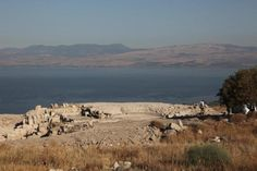 The ruins of Hippos (Sussita, Israel) are located on the east shore of the Sea Of Galilee, on a steep mountain, east of Kibbutz Ein-Gev.